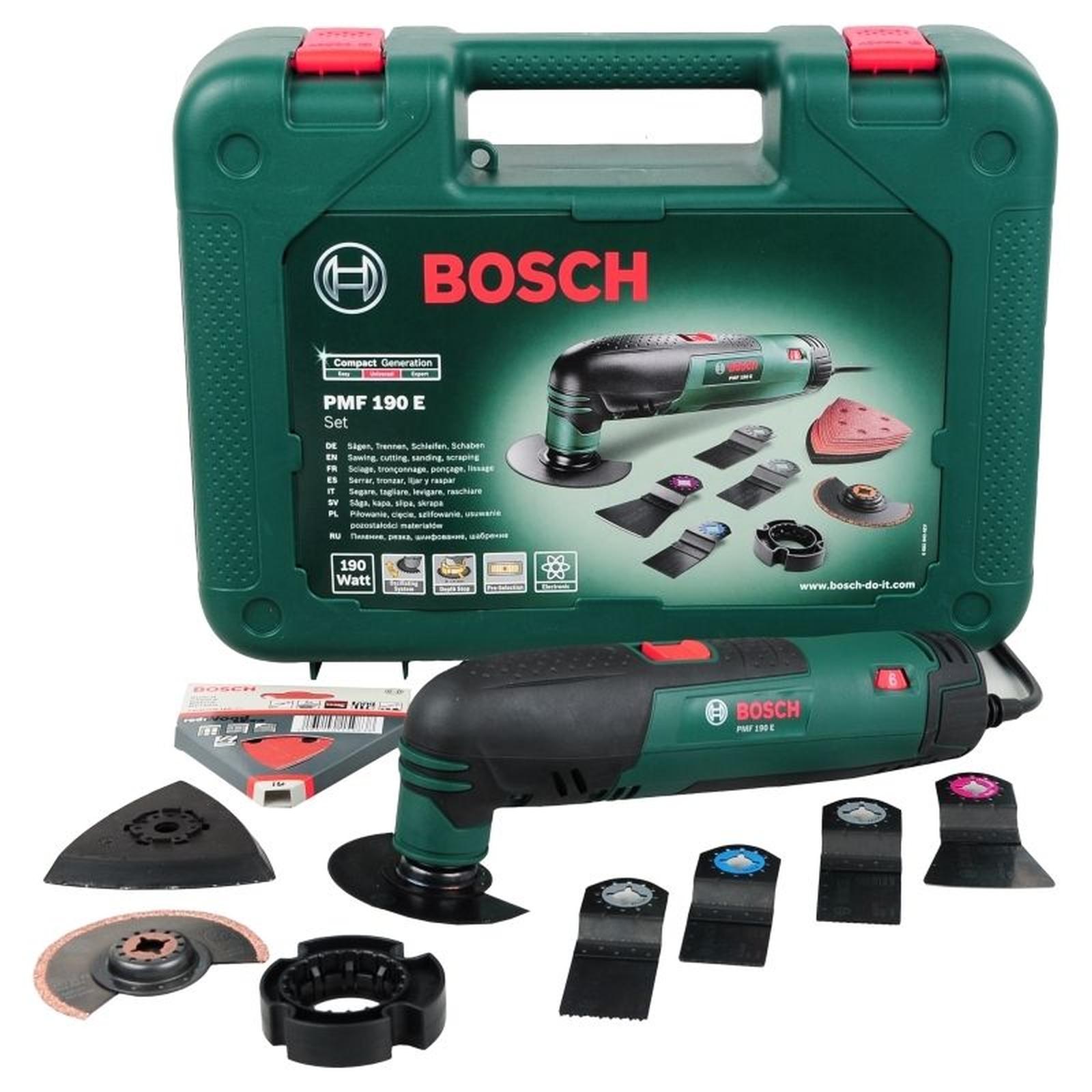 bosch multifunktionswerkzeug pmf 190 e set incl zubeh r koffer 0603100501 ebay. Black Bedroom Furniture Sets. Home Design Ideas