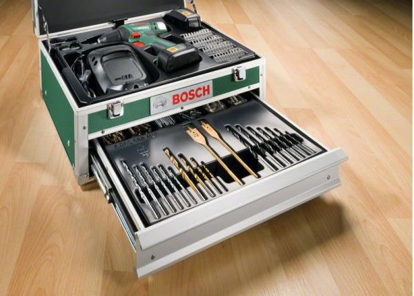 bosch psr 18 li 2 mit 2 akkus toolbox 241 tlg bauhaus. Black Bedroom Furniture Sets. Home Design Ideas